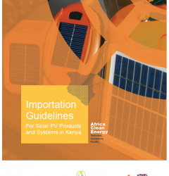 Importation Guidelines For Solar PV Products and Systems in Kenya 2019