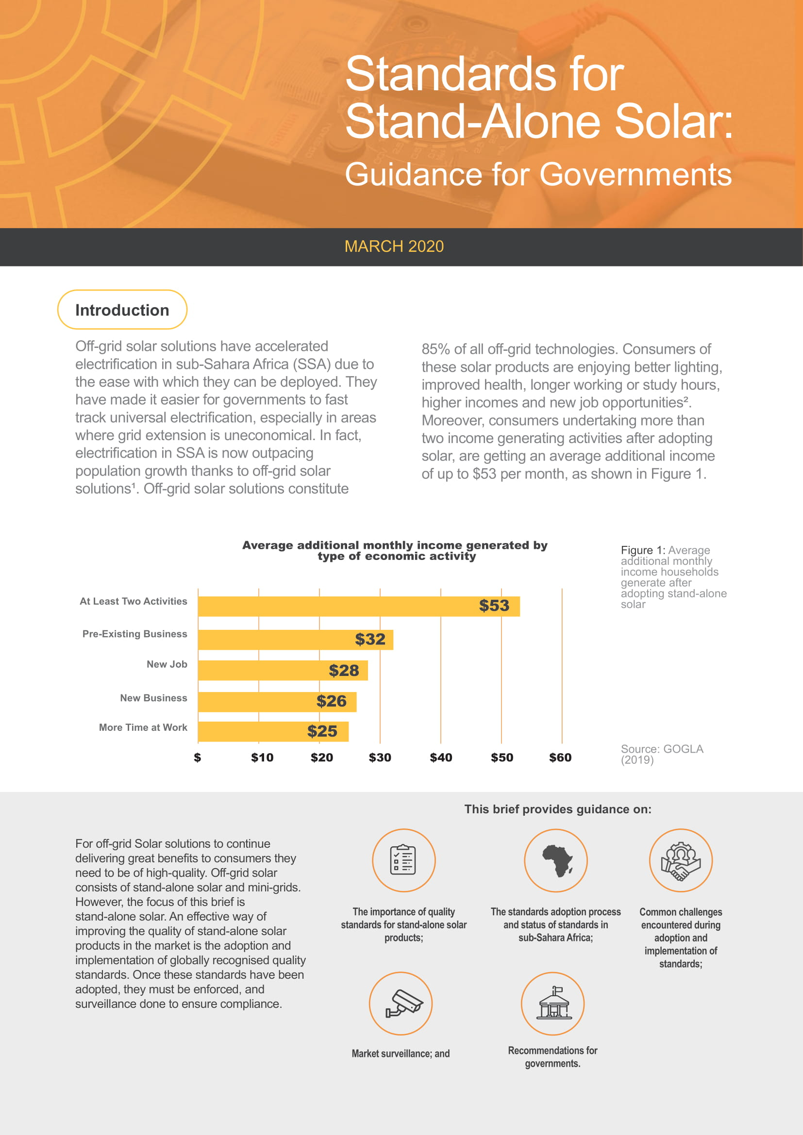 Standards for Stand-Alone Solar: Guidance for Governments