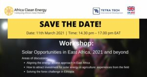 Workshop: Solar Opportunities in East Africa, 2021 and beyond.
