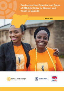 Productive Use Potential and Sales of Off-Grid Solar to Women and Youth in Uganda