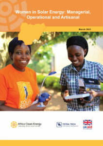 Women in Solar Energy: Managerial, Operational and Artisanal