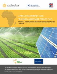 Ethiopia: Job creation through off-grid energy access